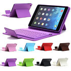 iPad Mini Wireless Bluetooth Keyboard Leather Case Cover With USB Data Cable_New