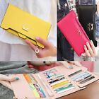Women's Soft Leather Bowknot Clutch Wallet Long PU Card Purse Handbag GA