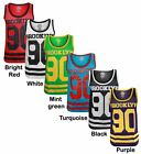 Mens Soul Star Mesh Number Printed Baseball Top Muscle Summer Sports Vest
