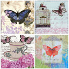 Handmade Shabby Chic picture plaques with decoupage technology. Butterflys