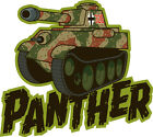 ICONZ CARTOON TEE SHIRT GERMAN WW2 PANTHER TANK NORMANDY INVASION TANKFEST 88MM.