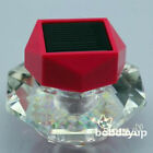 Solar Neon car perfume color changing LED Scent Bottle Lamp Glass Decor New
