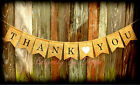 THANK YOU ~ Wedding Banner Burlap~ Photo Prop Venue Decoration Reception Rustic