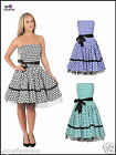 Womens Rockabilly Swing Prom Vintage50s Party Polka Dot Cocktail Evening Dress