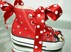 Stunning Little Girls Red Minnie Mouse Converse Trainer Boots Shoes UK 2 - 10
