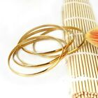 """SIKH KARA (stainless steel round/flat Gold Plated 0.15"""", 40g)- NEW"""