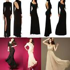 Womens Celeb Party Evening Prom Black Long Maxi Thigh High Side Split  Dress Top