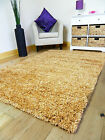 SMALL XX LARGE NEW GOLD BISCUIT THICK HEAVY SOFT QUALITY SHAGGY PILE RUG CARPET