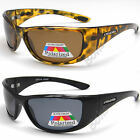 Mens UV400 Eyelevel Polarized Sports Sunglasses Fishing Wrap Around Black Brown