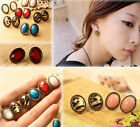 New Retro Vintage Elliptical Elegant Fashion Sweet Earring 7 Style