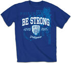 "Kerusso T-Shirt ""Be Strong"" Blue Mens BRAND NEW"