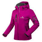 New Top Soft Shell Women Hooded Hiking Travel Golf Ski Snow Outdoor Jacket Coats
