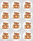 12 Teddy Bear Cupcake Decoration Edible Cake Toppers Precut 40mm Bears Teddies