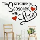 This Kitchen Seasoned with Love Wall transfer sticker New Design Look!Hot!