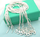 925sterling solid silver 10pcs 1mm snake chain necklace 16-30inch XMAS wholesale