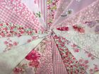 Handmade Fabric Bunting Pink Pastel design 3 lengths Vintage Shabby Chic