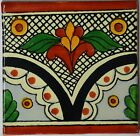 Mexican Tile Folk Art Handmade Talavera Backsplash Handpainted Mosaic # C261