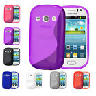 New Samsung Galaxy Ace 3 S Line Wave Gel Case Cover S7275 & S7270 & Screen Guard