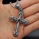 Men's Solid Both Sided 316L Stainless Steel Cross Pendant