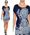 Sexy Ladies Short Sleeves Casual Flower Print Summer Dress&Top&Blouse 6-14 517