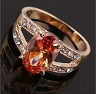 Stunning Amethyst&zircon cut crytal attractive and durable Ring size7,8,9 JZ0080