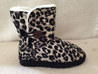 UGG Boots 1 Button Synthetic Wool Colour Black Leopard for Junior Girl