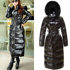 women winter duck down coat full length warm jacket hooded trench park fashion