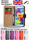 SAMSUNG Galaxy S5 Leather Case Cover Wallet PLUS Free Screen Protector & Stylus