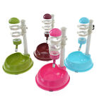 Pet Cat Dog Water Food Stand Deluxe Feeder Dish Raise Bowl Bottle Set 4 Colors