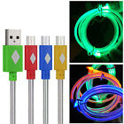 Micro USB LED/Light Up Data Cable Sync Charge 3FT/1M Cord For Galaxy S3 S4 Acer