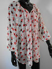 New Ladies Off White, Red & Black Floral Patterned Chiffon Top Plus Size 16 -32