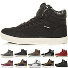 MENS FLAT HI HIGH TOP ANKLE BOOTS LACE UP PUMPS SNEAKERS TRAINERS SHOES SIZE