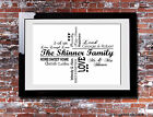 Personalised FAMILY Typography Picture Print Gift Canvas Wall Word Art Present