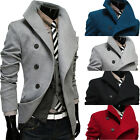 Men's Stylish Slim Fit single-breasted Trench Coat Overcoat Jacket Outwear  G