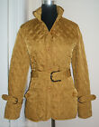 BNWT SIZE 10 TAN MUSTARD QUILTED BELTED THIGH LENGTH PADDED WALKING JACKET COAT