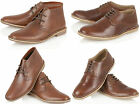 MENS CLASSIC REAL LEATHER DESERT BOOT CASUAL CHUKKA BOOT BOYS ANKLE SHOES SIZE
