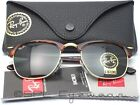 Ray Ban Clubmaster RB3016 W0366 49-21 Tortoise Green Classic G-15 Lens 49 mm