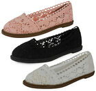 NEW WOMENS LADIES LOW HEEL CUTOUT CROCHET SLIP ON FASHION COMFY SHOE SANDAL SIZE