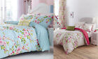 Catherine Lansfield Canterbury Floral Duvet Set Polka Dot Reversible Quilt Cover