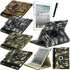 Mecasy Camouflage Military 360 Rotating Smart Stand Leather Case for iPad Air