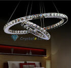 Lowest Price! Elegant 2 Crystal LED Rings Pendant Lamp Chandelier Light Lighting