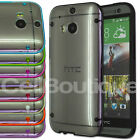New Hybrid Transparent TPU Gel Skin Case Cover for HTC One M8 Screen Protector