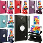 """360 Rotating Luxury PU Leather Case Smart Cover For Samsung Galaxy Tab 4 8"""" T330"""
