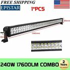 "42""in 240W LED Work Light Bar S&F Combo Offroad Fog Driving Lamp Truck Boat 288W"