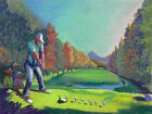 Jeff Leedy THE REALIST Golfer Golf Player Golfing Coach Wall Hanging Art Gift