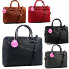 Lady Large Black Brown Grey Multiple Pocket Office College Bag Laptop Briefcase