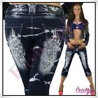 Ladies Cropped Jeans Sexy Womens Hot Crazy Age Capri Shorts Size 6,8,10,12,14 UK