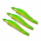 """5.5"""" to 8.5"""" Octopus Squid Replacement Skirt - Neon Green and Silver Sparkle"""