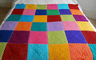 Handmade Crochet Large Blanket DOUBLE Bedspread Acrylic Yarn - VARIOUS COLOURS