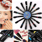 Hot 3D Nail Art Pen Design Painting Beauty Tool Drawing Gel Made Easy 16 Colors